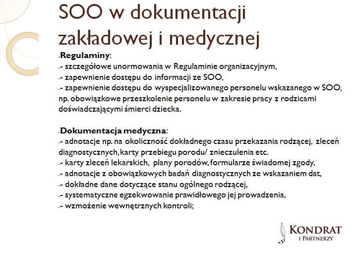 standardy opieki okołoporodowej w dokumentacji placówek leczniczych